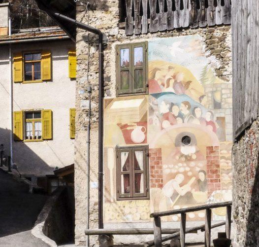 Cibiana di Cadore, quando la street art salva la storia